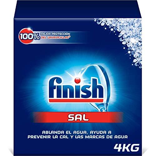 Finish Sal para lavavajillas, función antical, mayor rendimiento del lavaplatos - 4 Kg